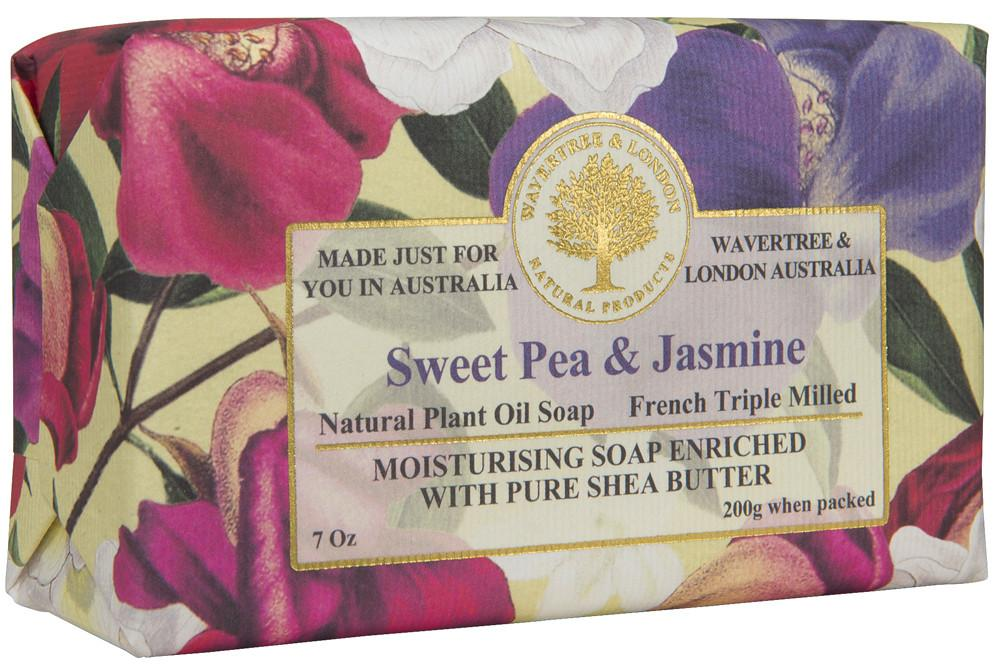 Wavertree & London Sweet Pea and Jasmine French Milled Soap