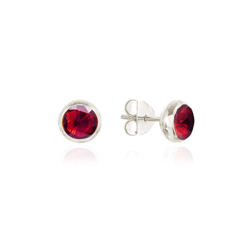 Rodgers and Rodgers Silver Birthstone Stud Earrings - January