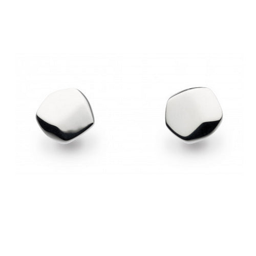 Kit Heath - Kit Heath Silver Rokk Shallow Studs - Designer Earrings - Silverado