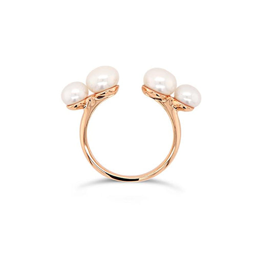 Olivia and Pearl Believer Pearl Ring - Rose Gold Vermeil