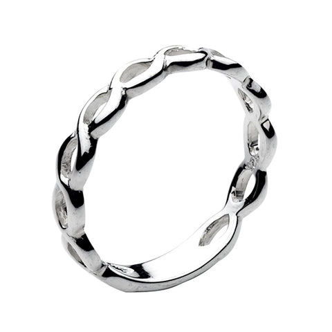 Sterling Silver Plaited Ring