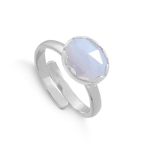 SVP Jewellery Silver and Blue Lace Agate Rapture Ring