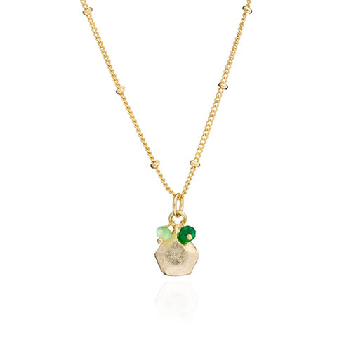 Azuni Alaya Necklace - Green Onyx and Prehnite