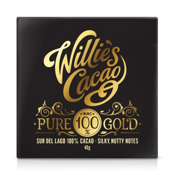 WILLIE'S CACAO PURE 100% GOLD BAR
