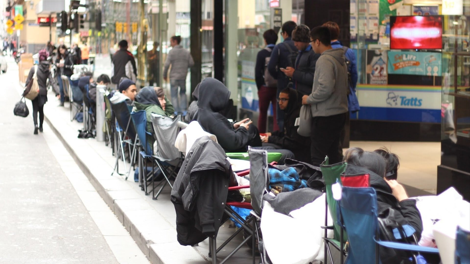 People in Australia waiting to buy Yeezys