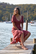Load image into Gallery viewer, Pippi Juliette Maxi Dress - Rust