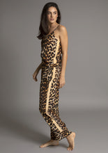 Load image into Gallery viewer, PALOMA PYJAMA PANT in LEOPARD w CAMEL TUXEDO STRIPE