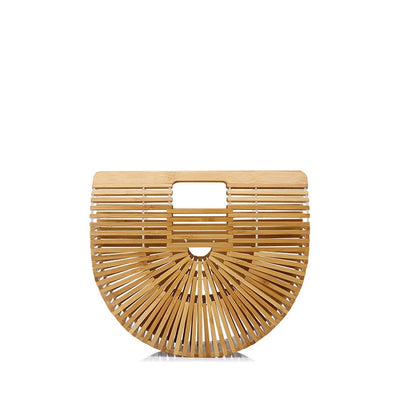 Cult Gaia Brown Ark Large Bamboo Bag