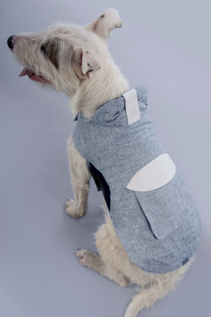 The Milford Coat- grey & white
