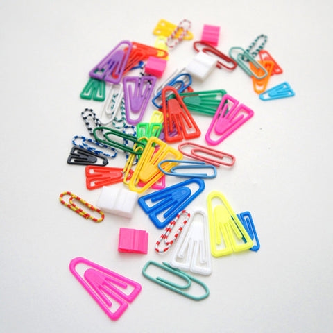 Exclusive RAD AND HUNGRY Plastic Paper Clips Collection featuring paperclips locally sourced from around the world
