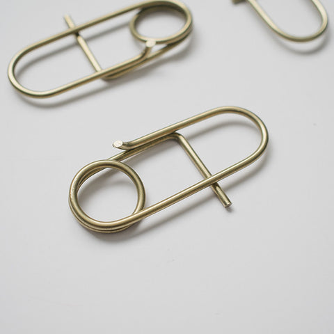 The Jorge Brass Utility Clip: Handmade Brazilian Art & Picture Hook | RAD AND HUNGRY