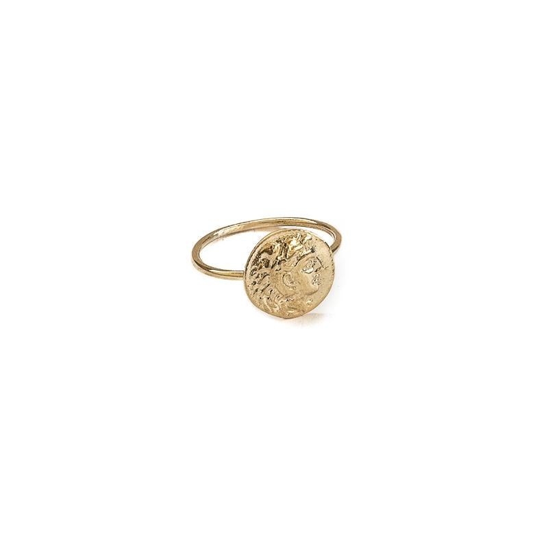 Phillip Coin Ring-Gold