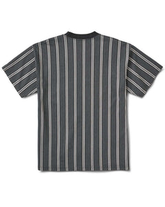 Avalon Stripe Tee Black