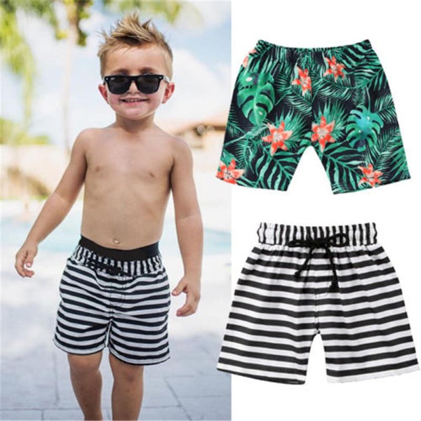 Leaf Print  Beach Shorts