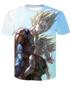 Men's 3D T Shirt Dragon Ball Z Vegeta Trunks high quality 2019