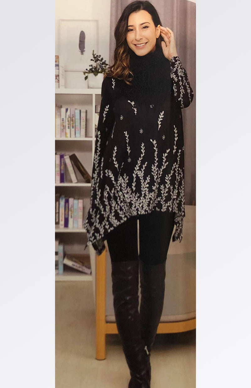 Printed Tunic with Scarf 20% Off