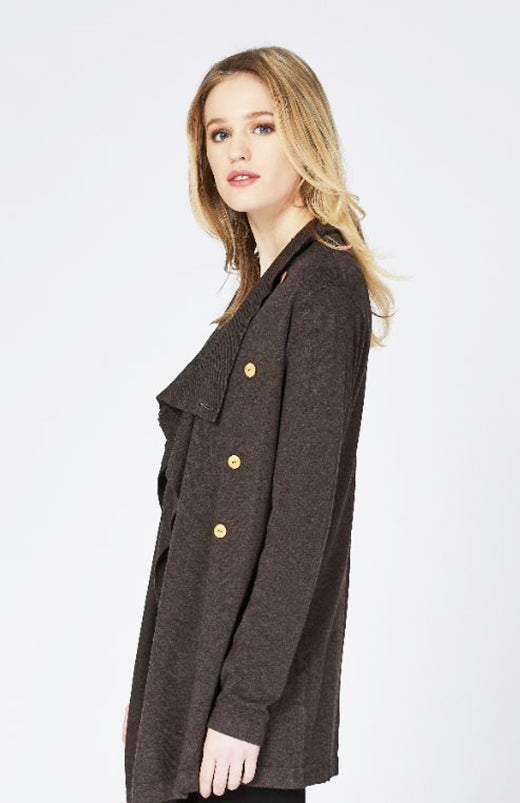Drape Collar Cardigan Now 30% Off