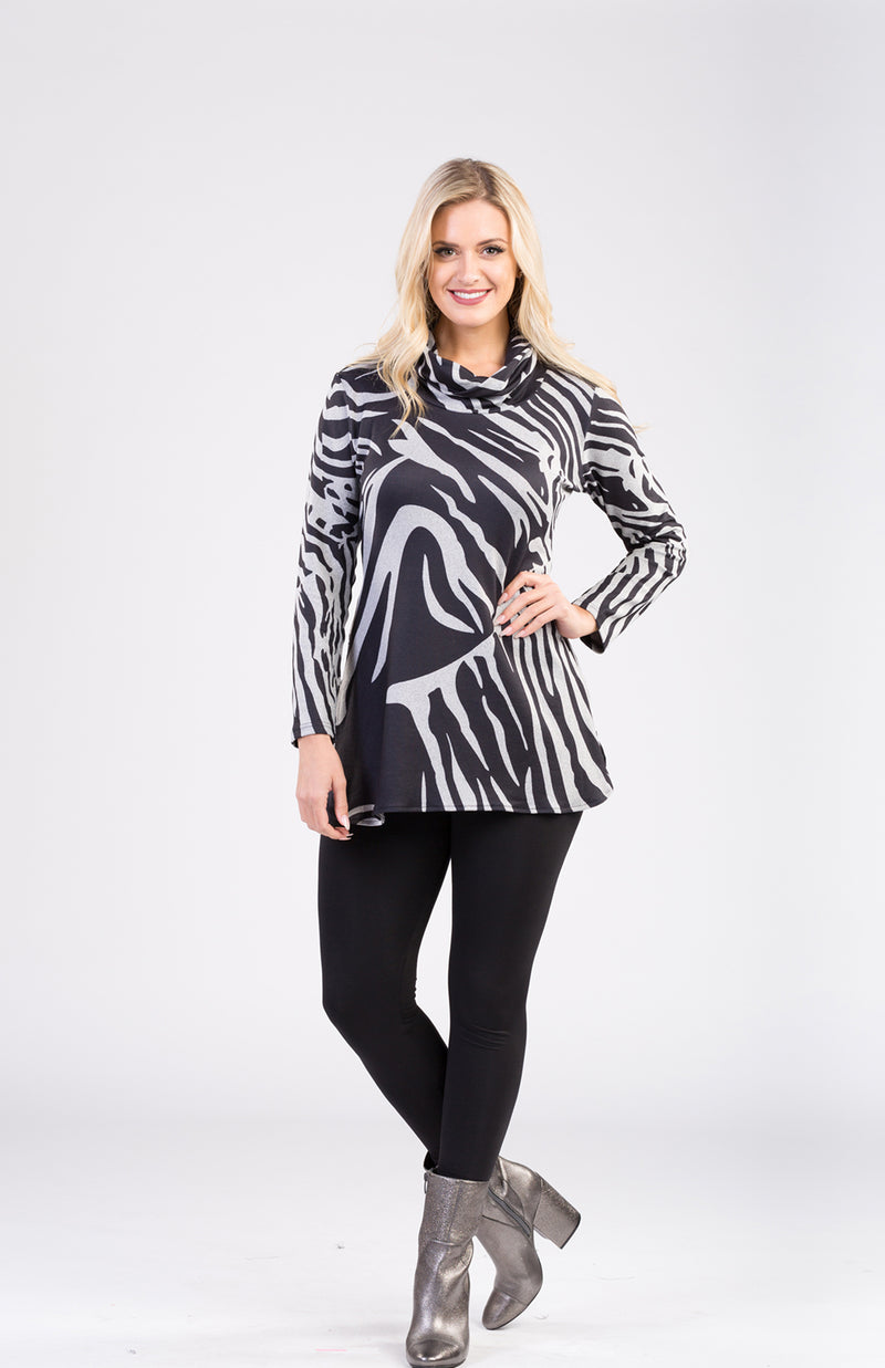 Printed Tunic With Side Zipper Now 20% Off