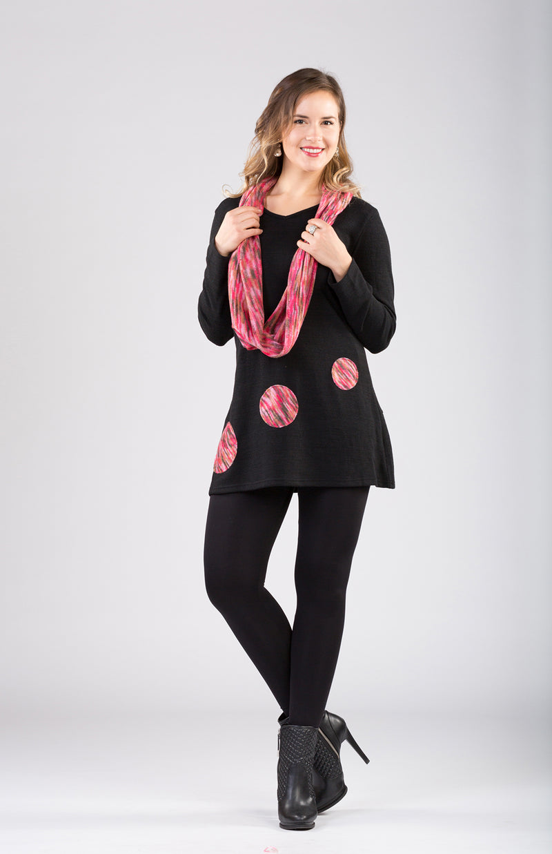 Patch Work Tunic With Scarf Now 20% Off