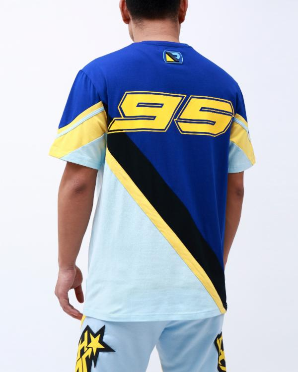 RS SPORTS SS MOTO SHIRT-COLOR: NAVY