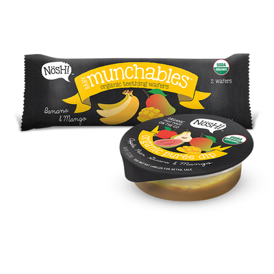 Munchable Dippers, Banana & Mango (Pack of 6)