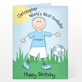 Personalised Worlds Best Footballer Card