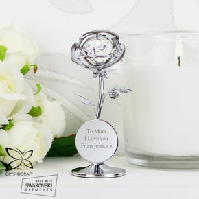 Personalised Crystocraft Rose Ornament