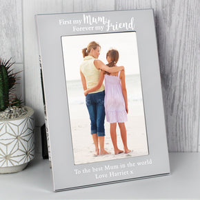 Personalised First My Mum... Silver 4x6 Photo Frame