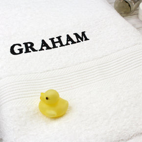 Personalised White Bath Towel