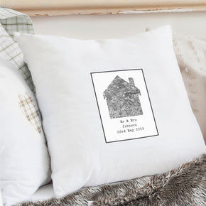 Personalised 1805 - 1874 Old Series Map Home Cushion Cover
