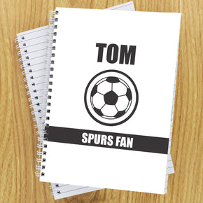 Personalised Football Fan A5 Notebook