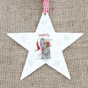 Personalised Me To You Wooden Wooden Star Decoration
