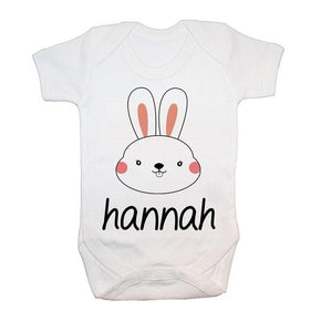 Personalised Little Bunny Face Baby Grow