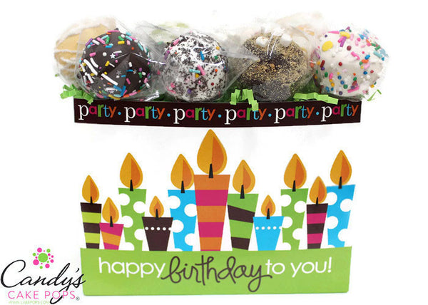 Happy Birthday to You!  Cake Pop Box