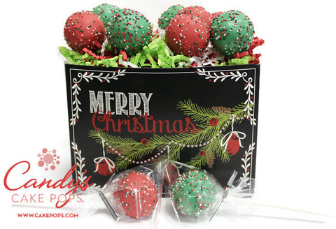 Christmas Holiday Cake Pop Gift Box
