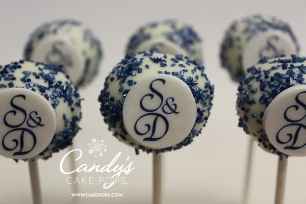 Custom Color + Monogram Decal Cake Pops