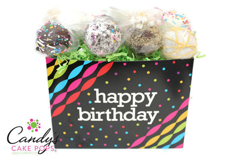 Happy Birthday Neon Streamer Cake Pop Box