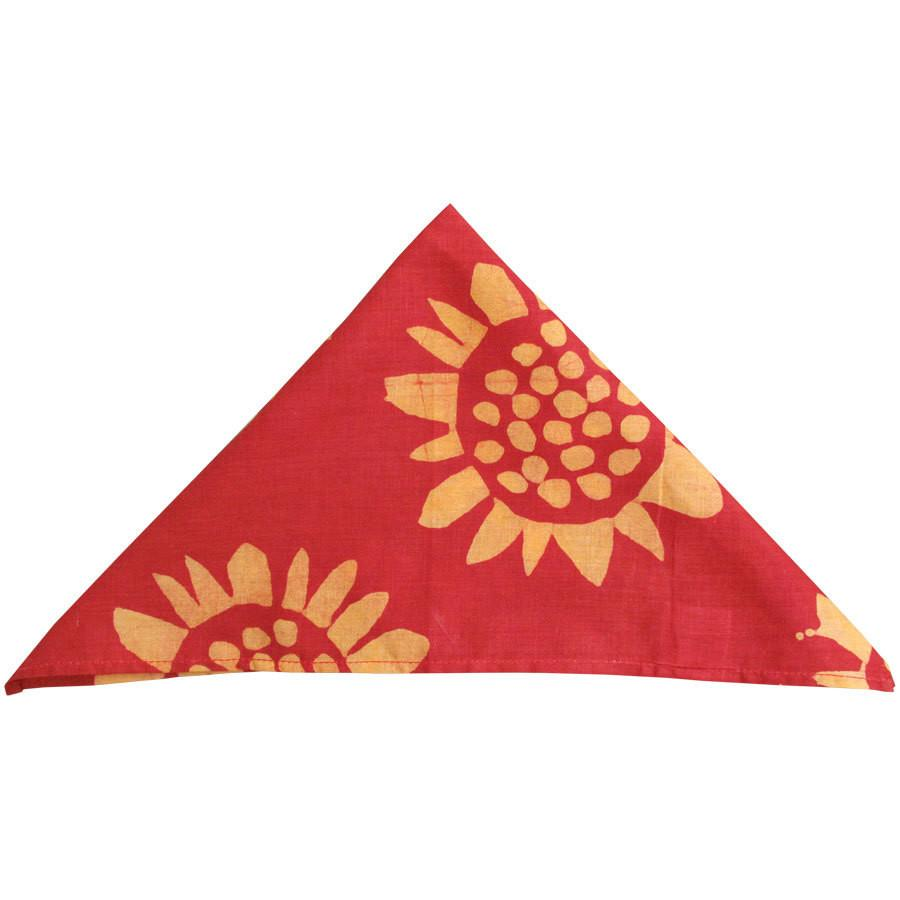 Global Crafts - Set of Four Napkins - Sunflower Red - Global Mamas (L)