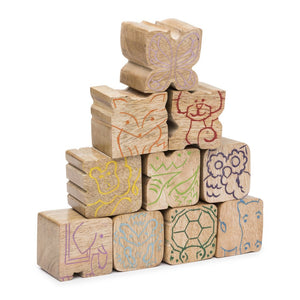 Global Crafts - Stacking Critters Blocks - Set of 10 - Matr Boomie