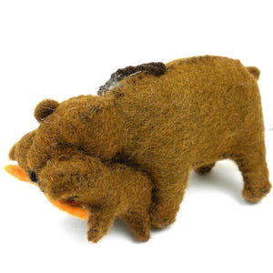 Global Crafts - Felt Bear Ornament - Silk Road Bazaar (O)