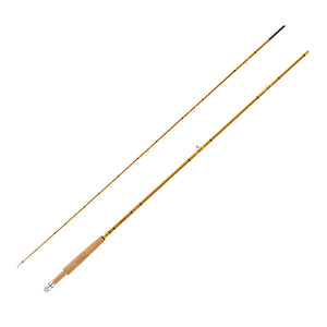 "Eagle Claw Crafted Glass Fly Rod 7'6"" Length, 2 Piece, Honey Gold Glass, Medium"