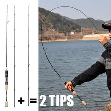 Load image into Gallery viewer, cheap ul spinning rod 1.8m 0.8-5g lure weight ultralight spinning rods 2-5LB line weight ultra light spinning fishing rod china