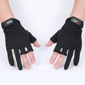 Fingerless Exposed Men&Women Breathable Fishing Glove Anti Slip Sailboat Sailing Fishing Autumn Winter Outdoor 3 cut Glove