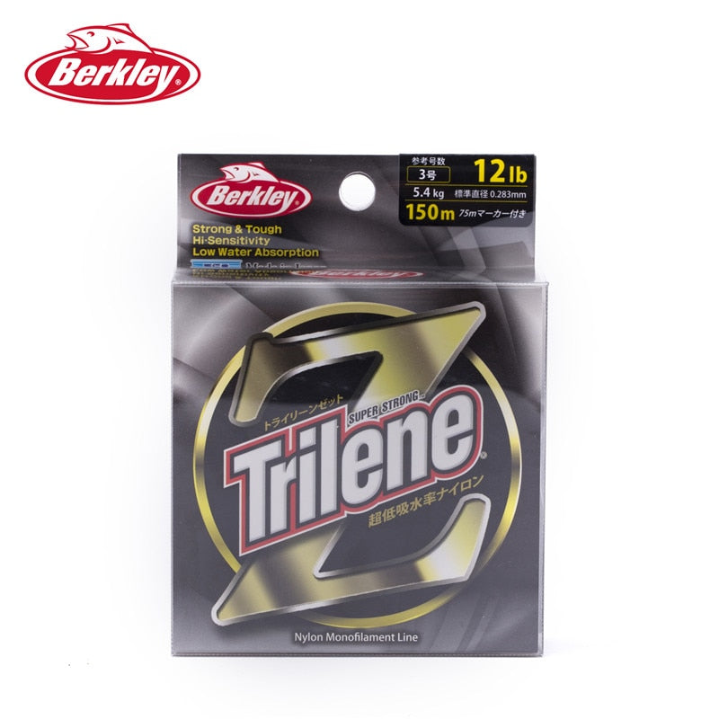 Berkley Trilene Z Clear 150M Carp Fishing Lines Low Water Absorption Smooth Tough Pesca Peche Accessories 8/10/12/14LB Monos