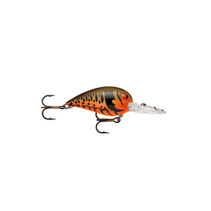 "Storm Original Wiggle Wart Lure 2"" Length, 7'-14' Depth, Number 4 Hook, Brown Scale/Cradad, Per 1"