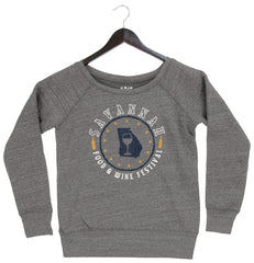 Savannah Food & Wine 2018 - Map - Women's Fleece Pullover - Grey
