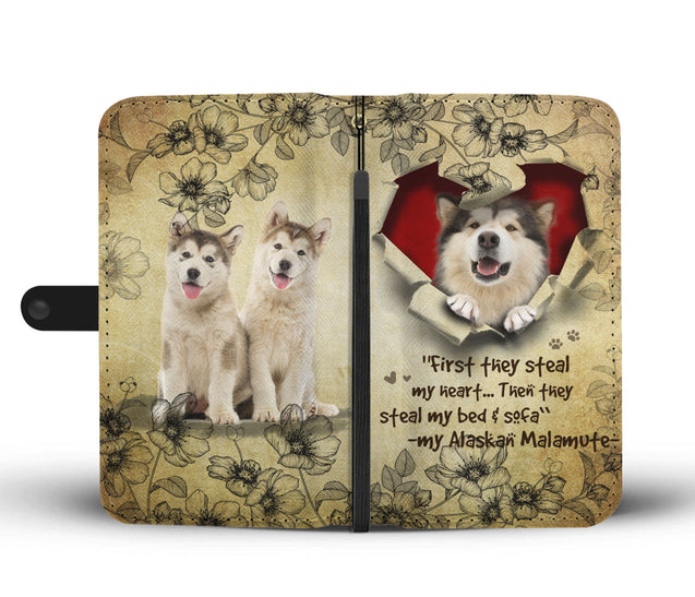 Nh 2 Alaskan Malamute Torn Wallet Case