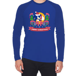 Official Modern Sonic - 'Merry Christmas' Long Sleeve T-Shirt