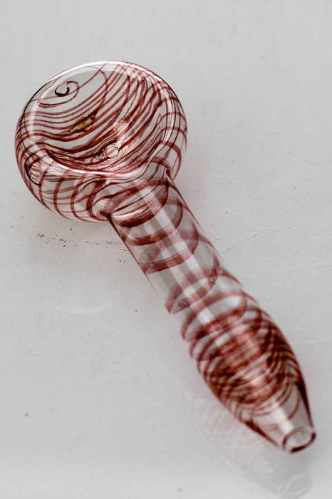 10 pieces Soft glass 2789 peanut hand pipe - bongoutlet.com