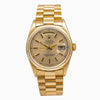 Rolex Day-Date 18233 36MM Champagne Dial With President Yellow Gold Bracelet